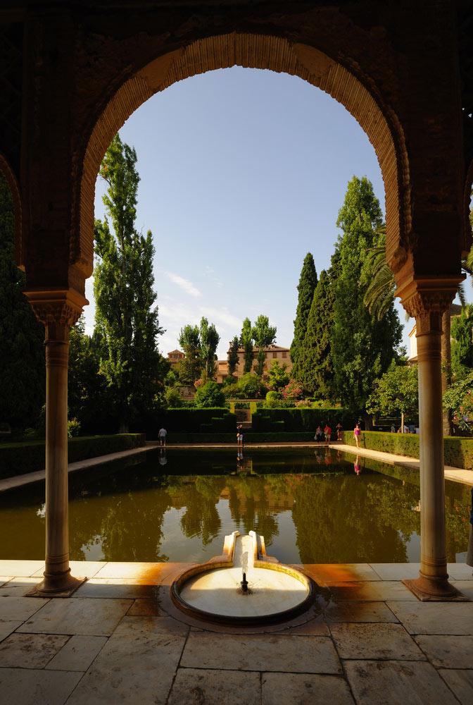 View of the alhambra Granada