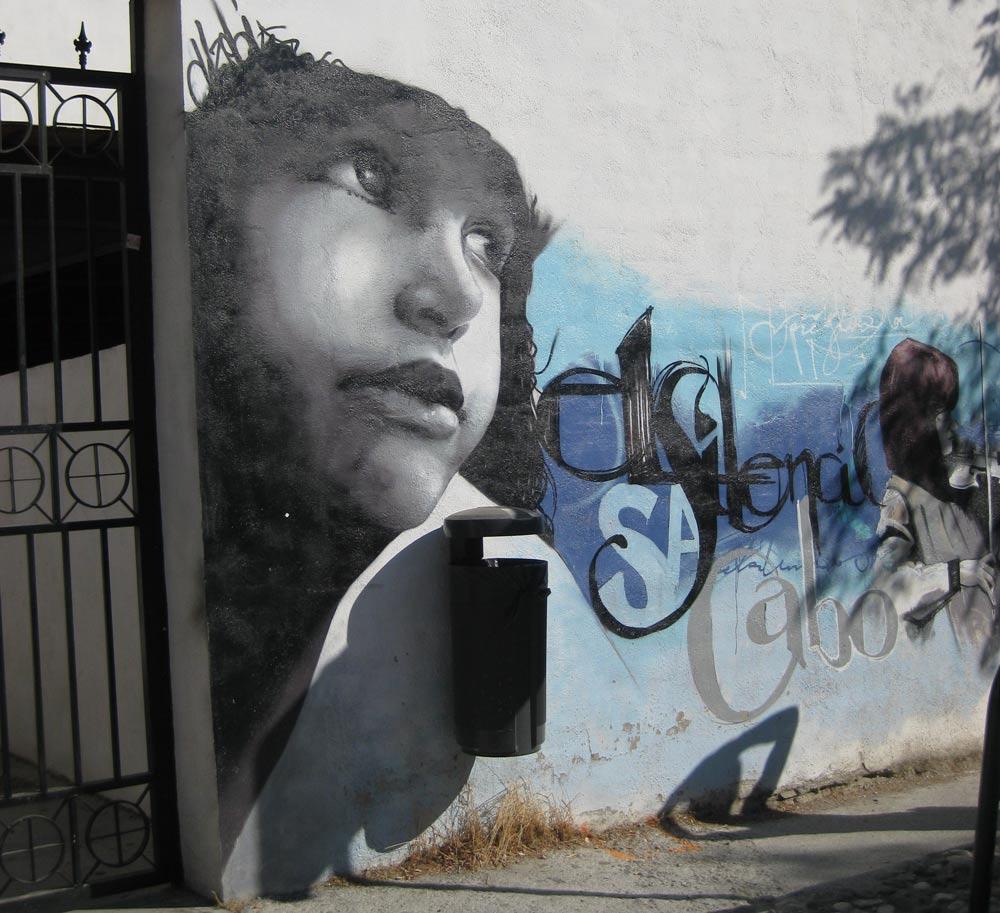 "street art ""el Nino de las PInturas"""