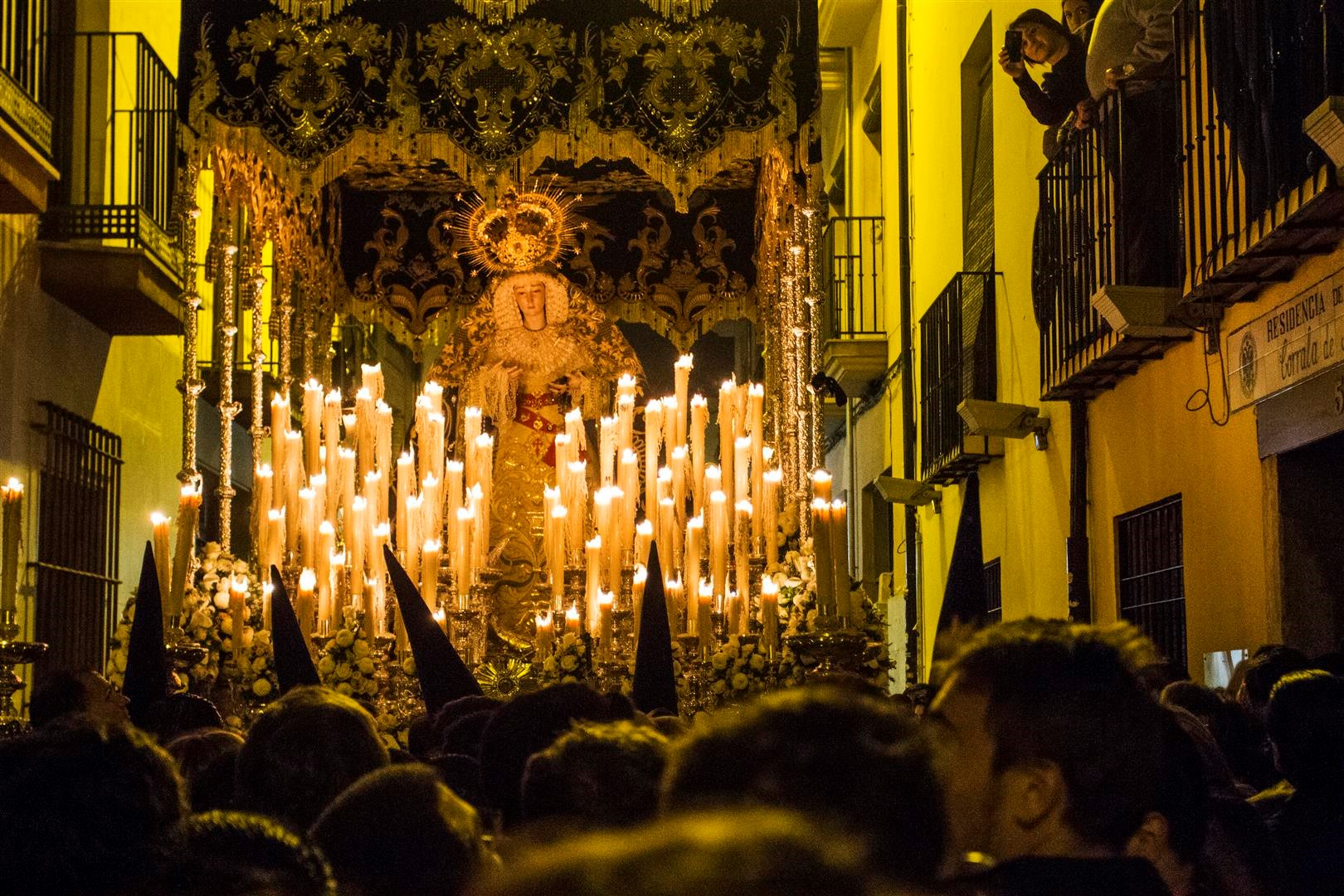 The Virgin of Sorrow on the streets of Realejo in Granada